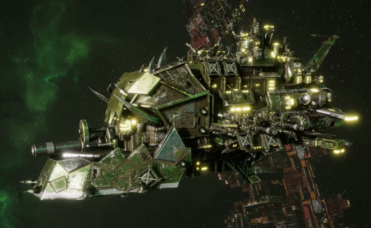 "Ork Light Cruiser - ""Basha Ordzgargdaka"" - [Blood Axes Sub-Faction]"