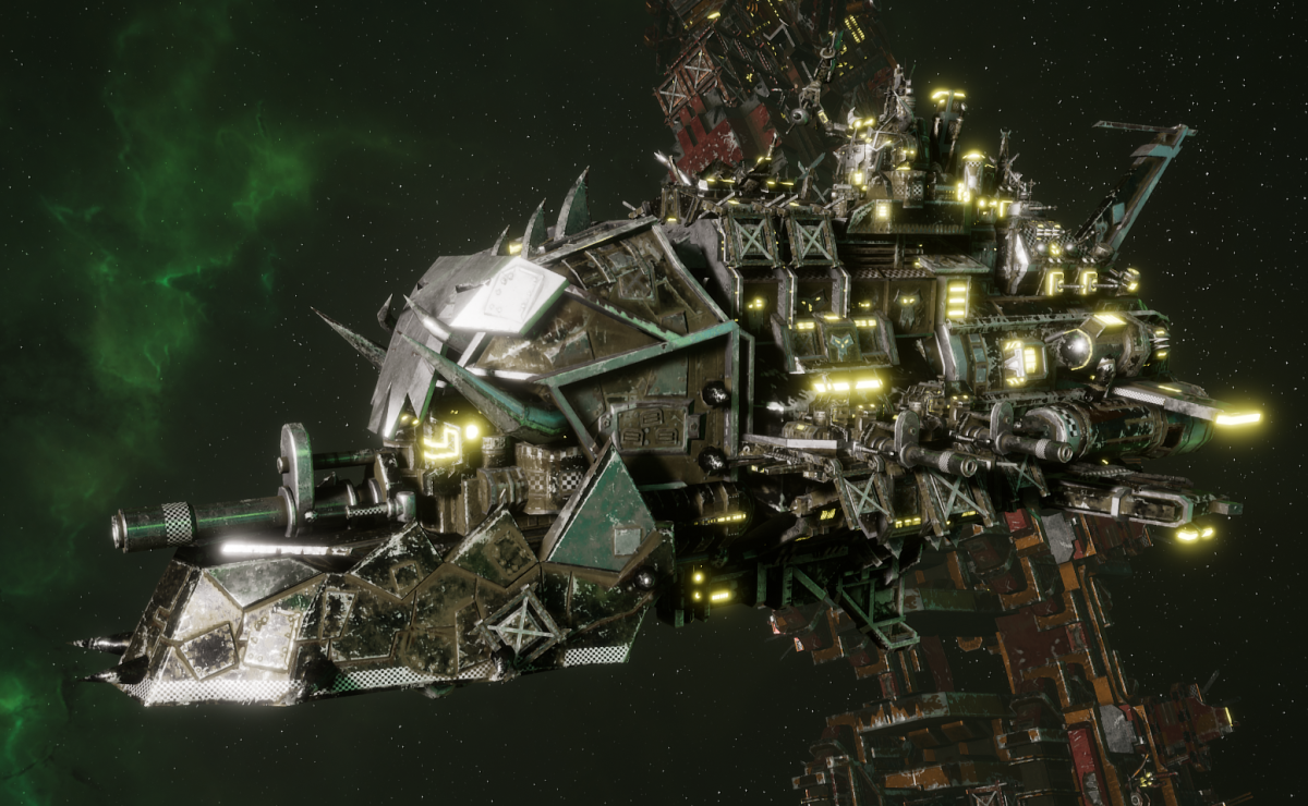 "Ork Light Cruiser - ""Basha Ordzgargdaka"" - [Goffs Sub-Faction]"