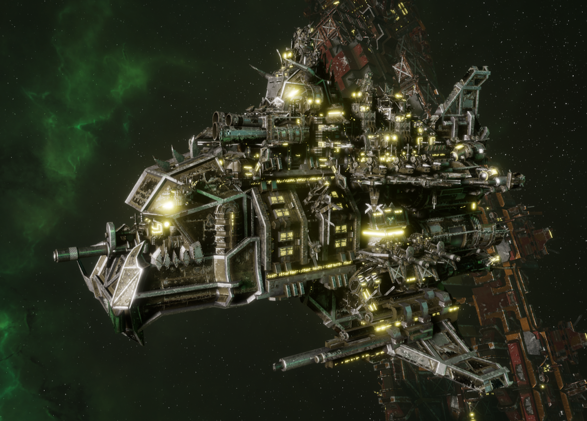 """Ork Battle Cruiser - """"Hammer"""" - [Goffs Sub-Faction"""