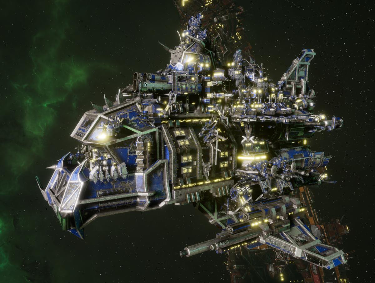 "Ork Battle Cruiser - ""Hammer Stompa"" - [Death SKullz Sub-Faction]"