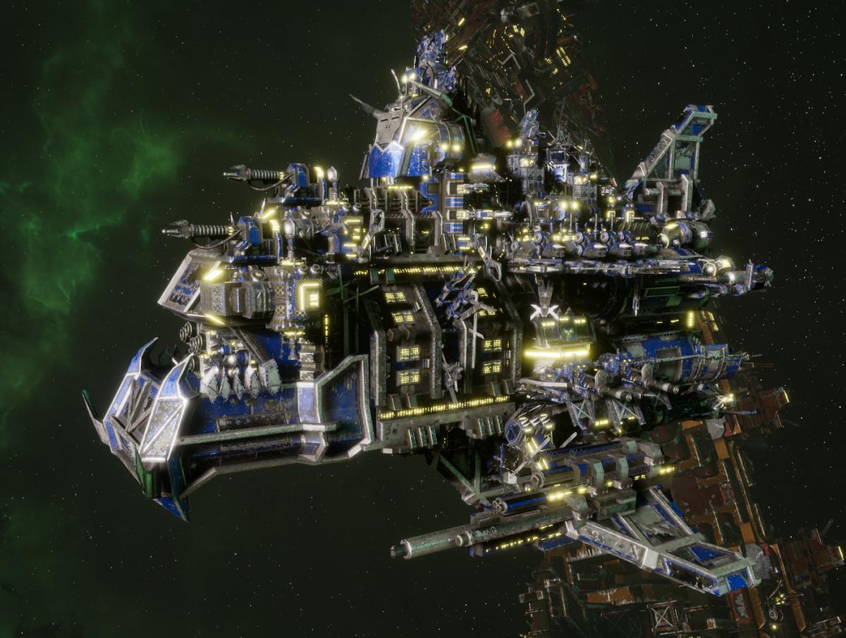 "Ork Battle Cruiser - ""Hammer Smacka"" - [Death Skullz Sub-Faction]"
