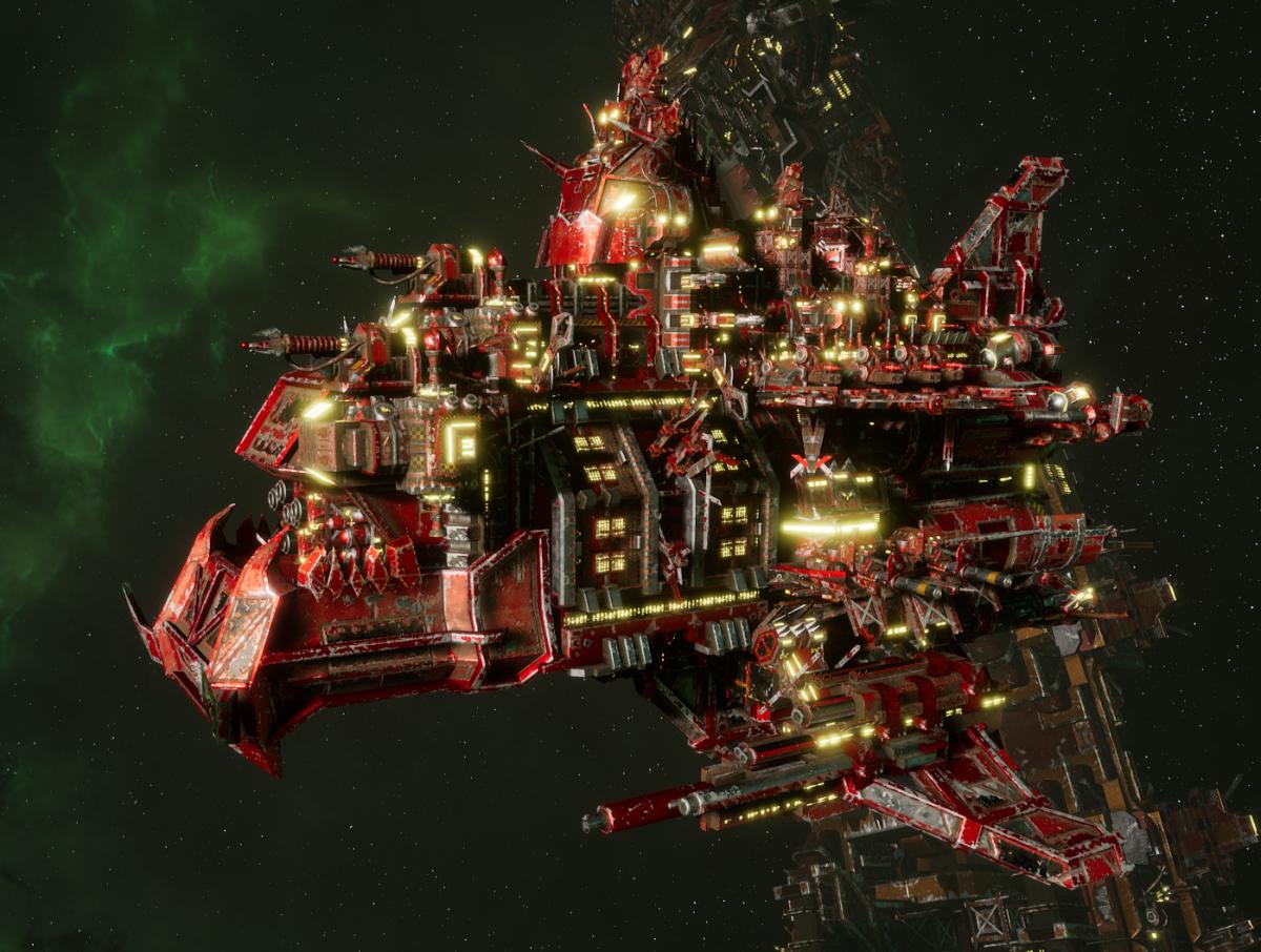 "Ork Battle Cruiser - ""Hammer Smacka"" - [Evil Sunz Sub-Faction]"