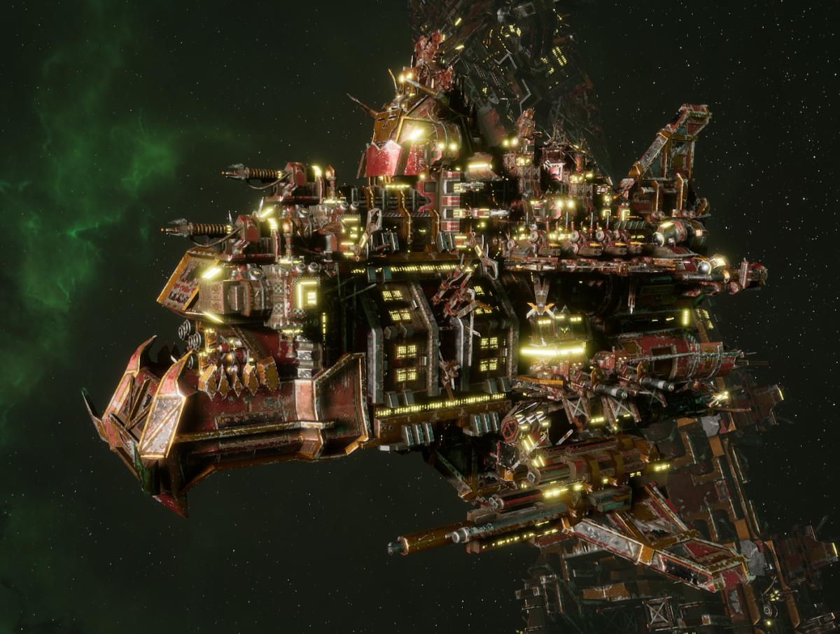 "Ork Battle Cruiser - ""Hammer Smacka"" - [Ork Pirates Sub-Faction]"