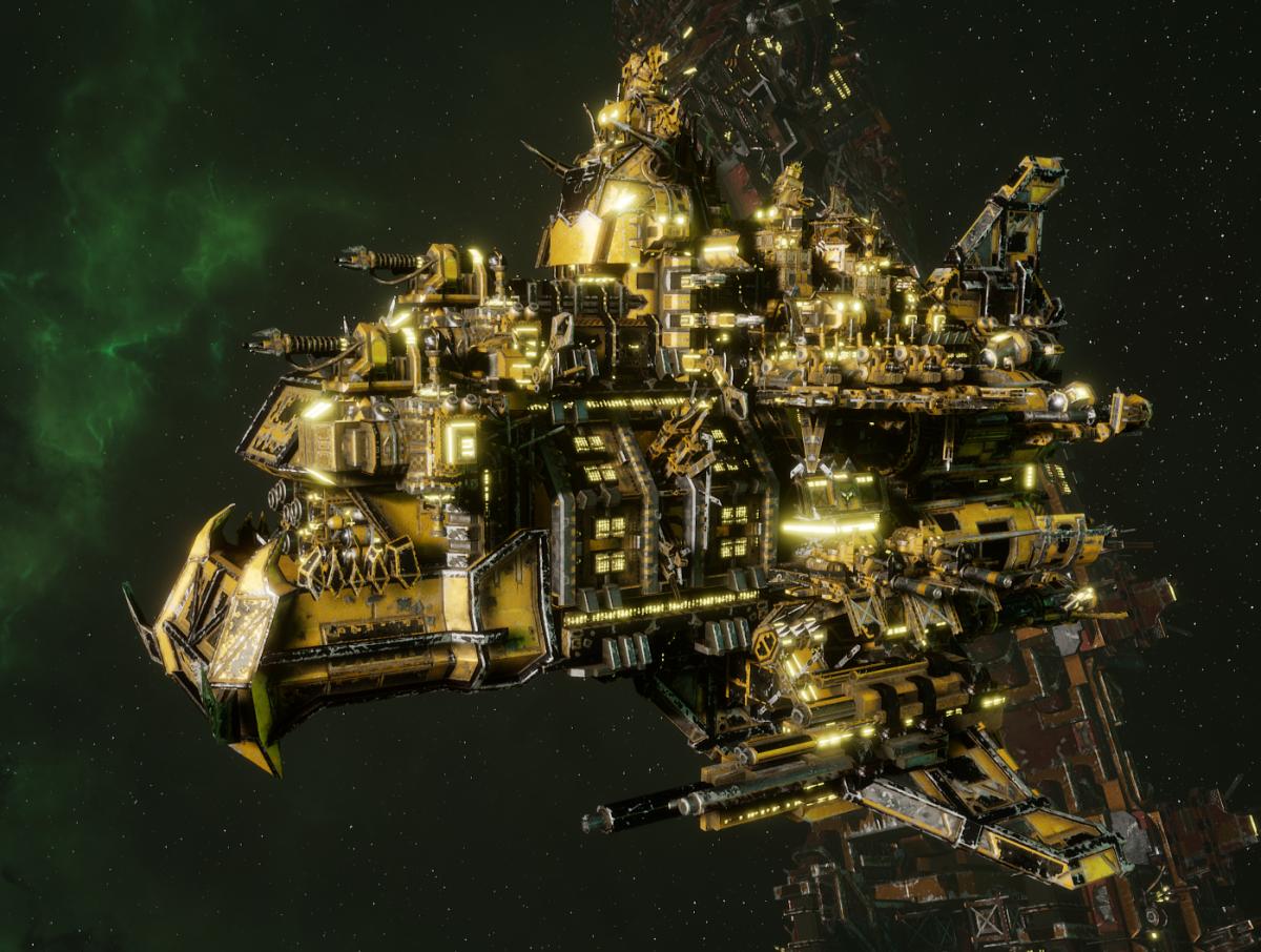 "Ork Battle Cruiser - ""Hammer Smacka"" - [Bad Moons Sub-Faction]"