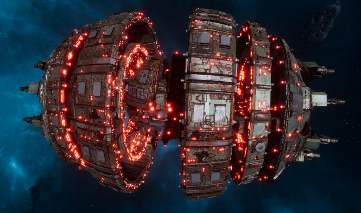 Tau Allied Battleship - Kroot Warsphere