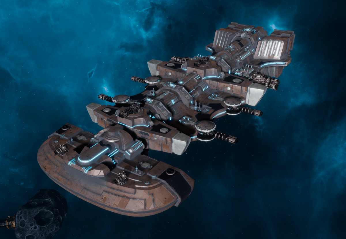 "Tau Merchant Fleet Light Cruiser - ""Il'Fannor Dal'Yth"" - [D'Yanoi Sub-Faction]"
