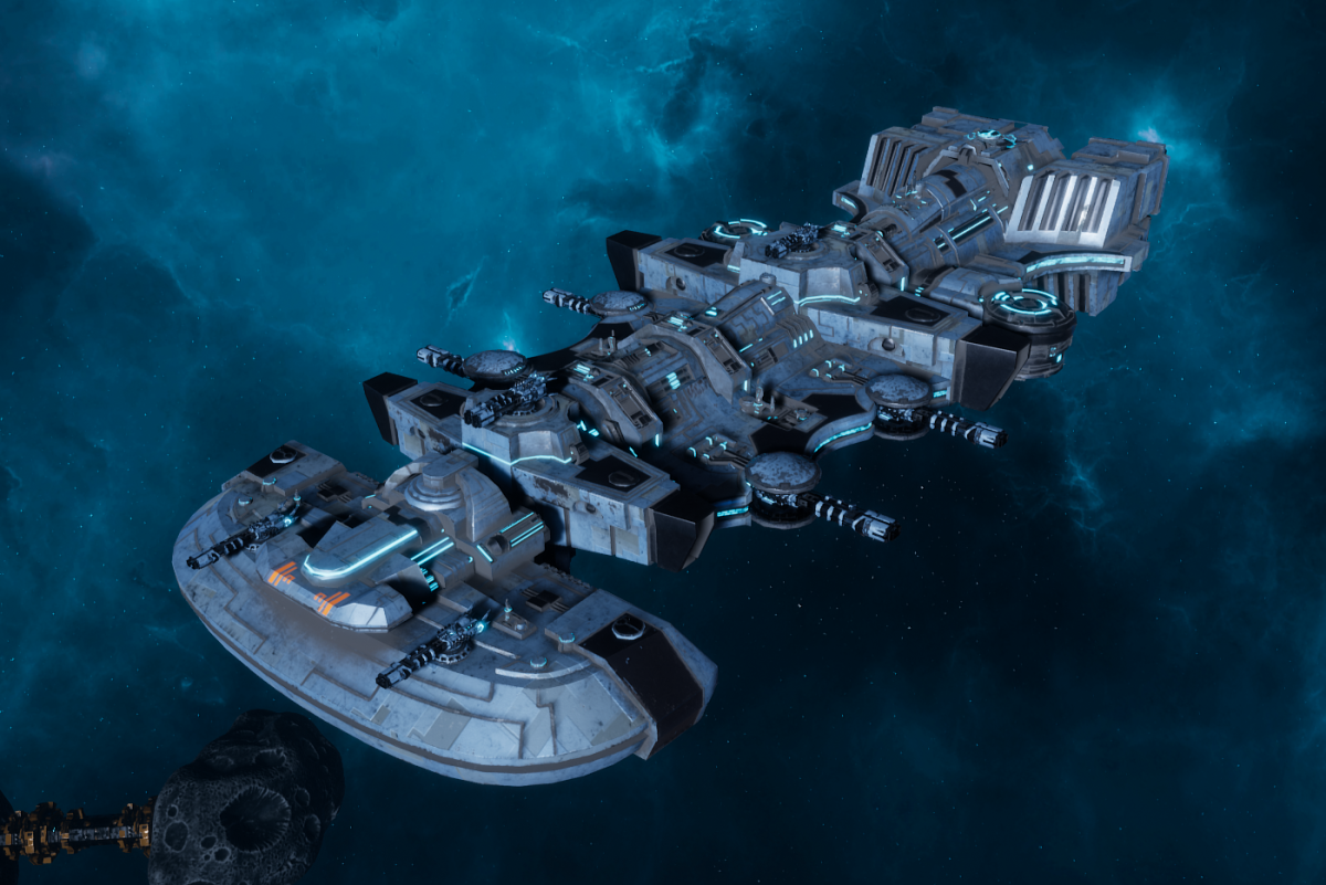"Tau Merchant Fleet Light Cruiser - ""Il'Fannor Ke'lShan"" - [Sa'cea Sub-Faction]"
