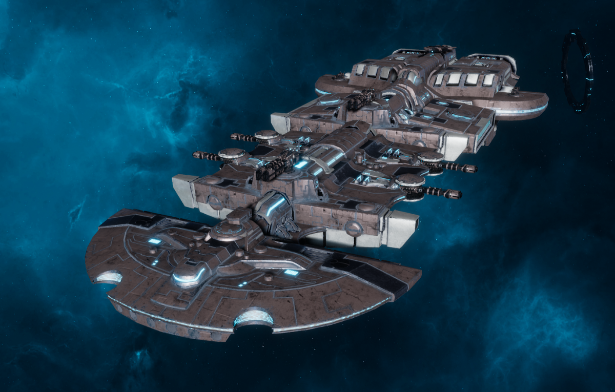 "Tau Merchant Fleet Cruiser - ""Lar'Shi Tolku"" - [D'Yanoi Sub-Faction]"