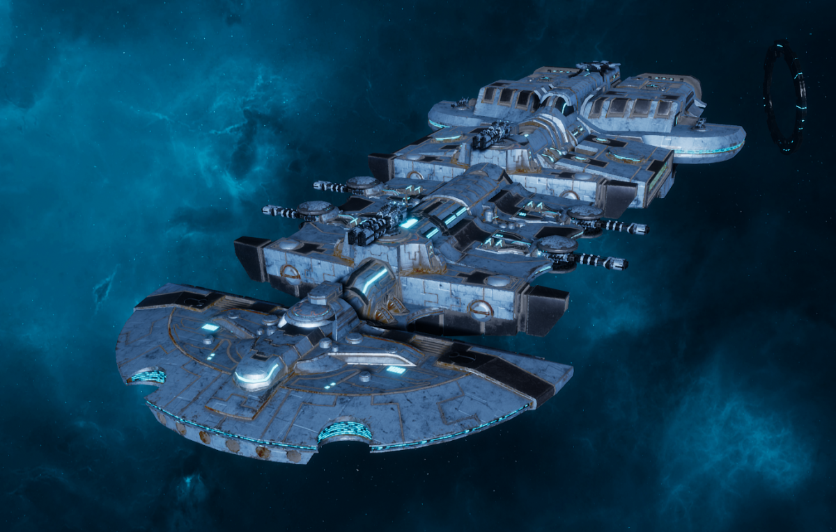 "Tau Merchant Fleet Cruiser - ""Lar'Shi Tolku"" - [Sa'cea Sub-Faction]"