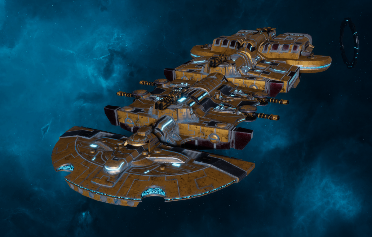 "Tau Merchant Fleet Cruiser - ""Lar'Shi Tolku"" - [T'au Sub-Faction]"