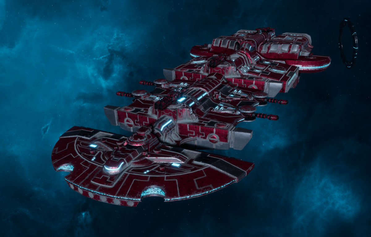 "Tau Merchant Fleet Cruiser - ""Lar'Shi Tolku"" - [Farsight Enclave Sub-Faction]"