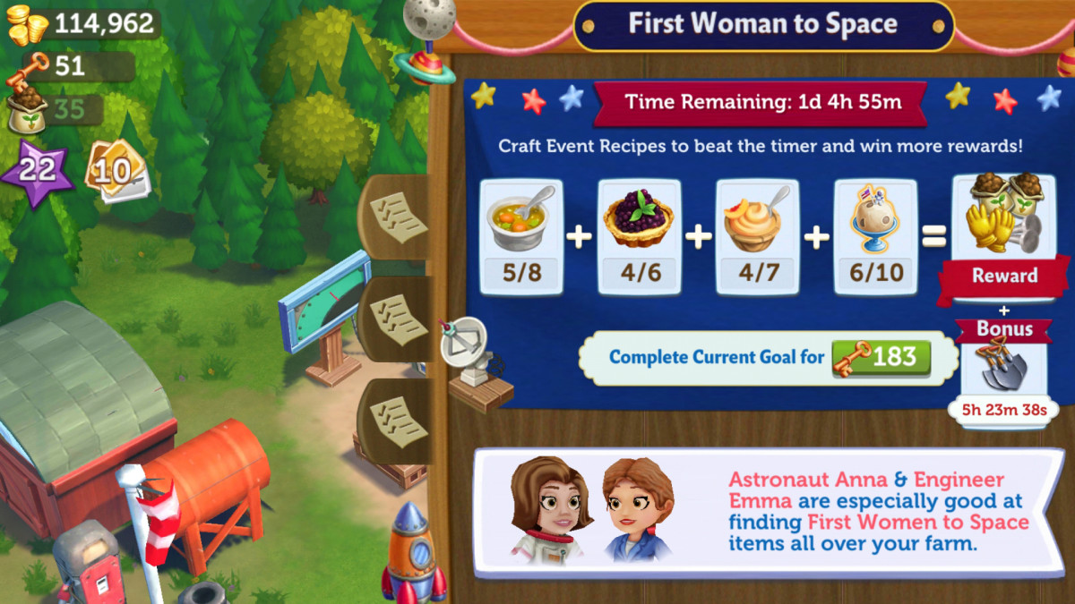 Make sure you check into the game and play special events to get extra items!
