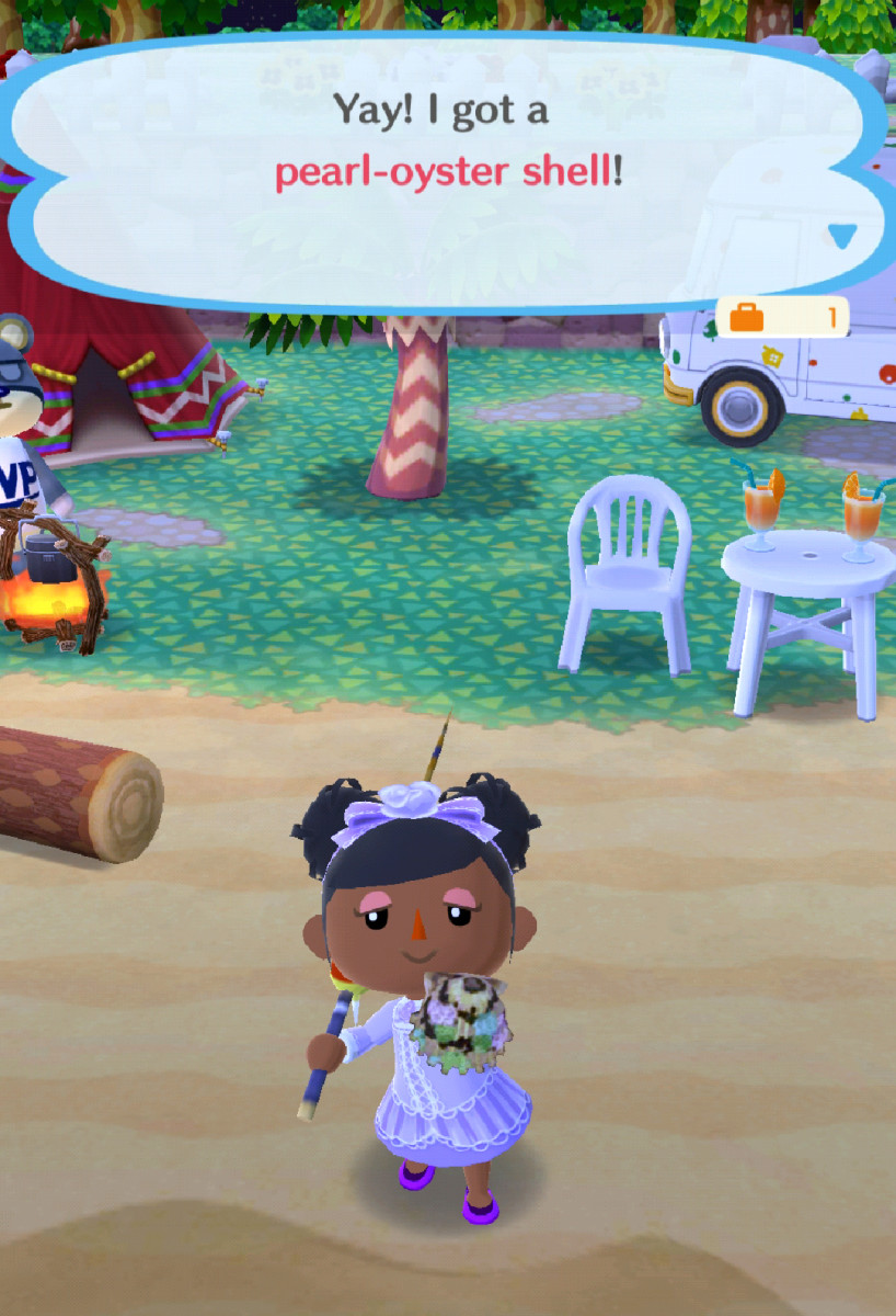 My camper found a rare seashell!