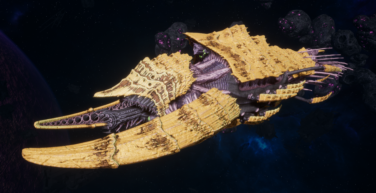 "Tyranid Battleship - ""Acid Infestation Hiveship"" - [Jormungandr Sub-Faction]"