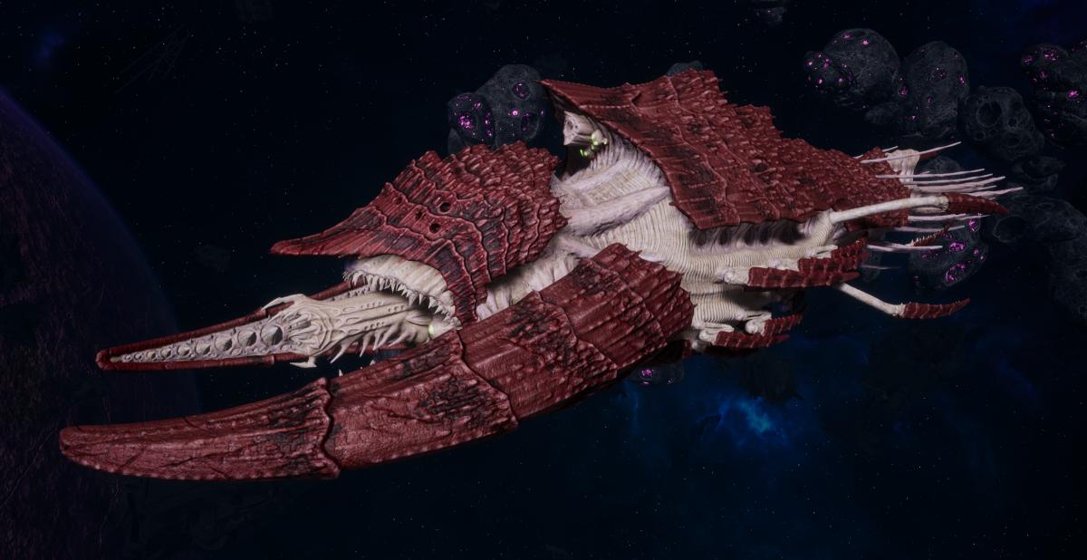 "Tyranid Battleship - ""Acid Infestation Hiveship"" - [Kraken Sub-Faction]"