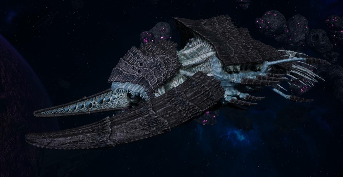 "Tyranid Battleship - ""Bio Tentacles Hiveship"" - [Ourobris Sub-Faction]"
