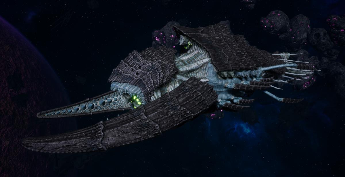 "Tyranid Battleship - ""Hiveship"" - [Ouroboris Sub-Faction]"