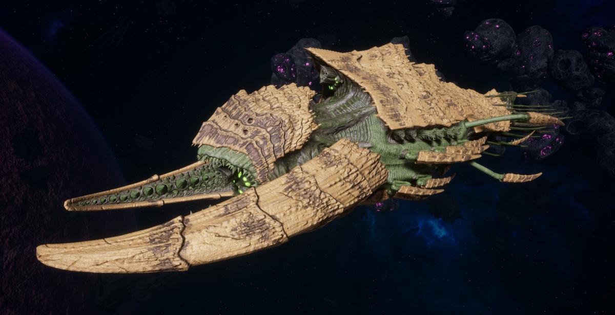 """Tyranid Battleship - """"Hiveship"""" - [Gorgon Sub-Faction]"""