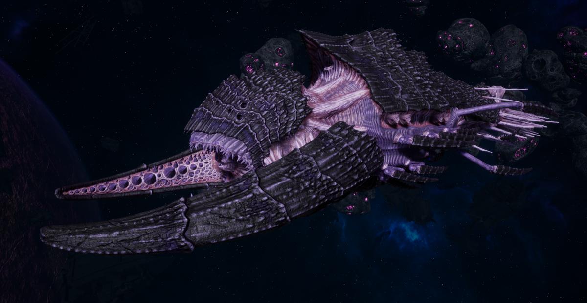 "Tyranid Battleship - ""Bio Tentacles Hiveship"" - [Hydra Sub-Faction]"