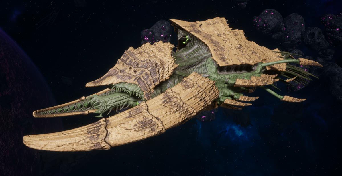 "Tyranid Battleship - ""Acid Infestation Hiveship"" - [Gorgon Sub-Faction]"