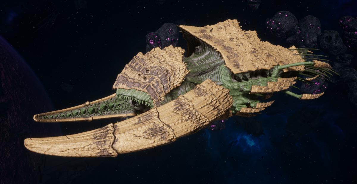 "Tyranid Battleship - ""Bio Tentacles Hiveship"" - [Gorgon Sub-Faction]"