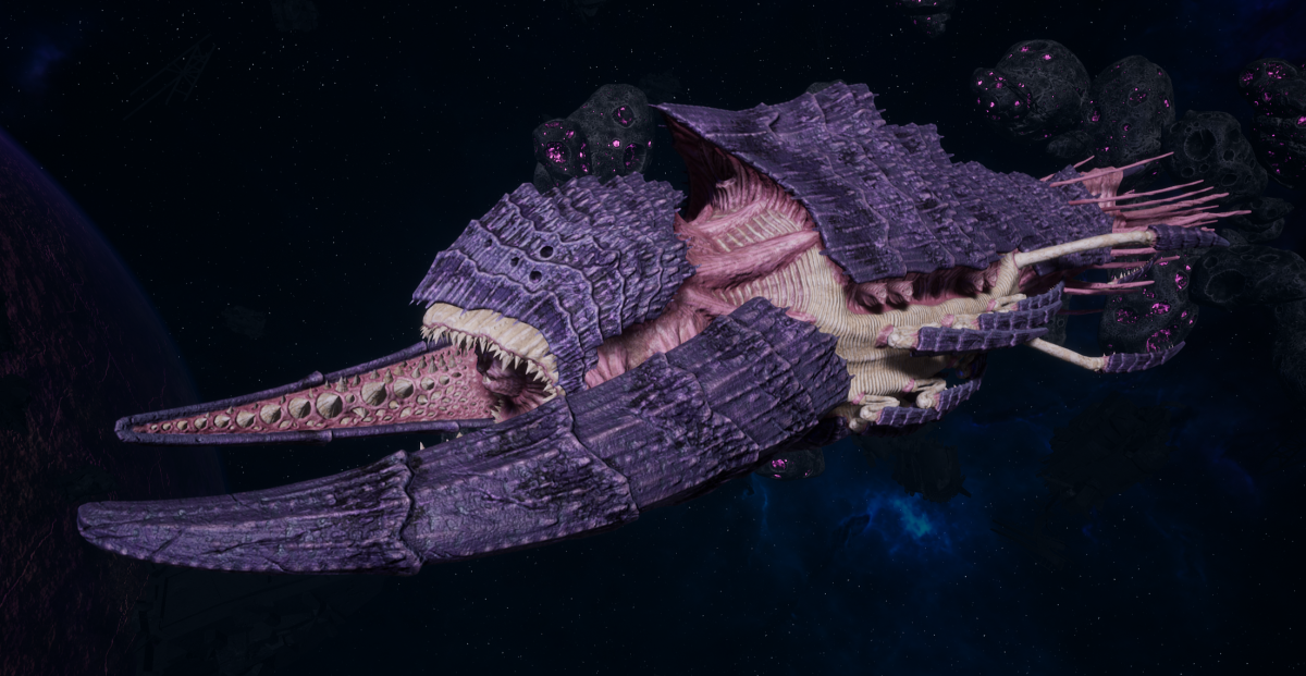 "Tyranid Battleship - ""Bio Tentacles Hiveship"" - [Leviathan Sub-Faction]"