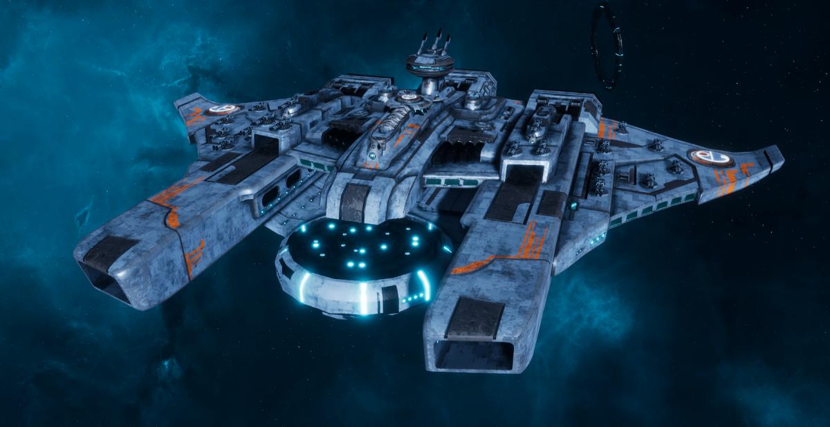 "Tau Protector Fleet Battleship - Or'Es El'Eleath ""Custodian"" - [Sa'cea Sub-Faction]"