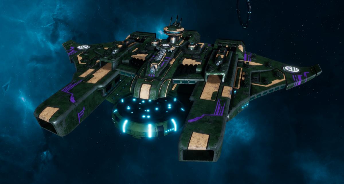 """Tau Protector Fleet Battleship - Or'Es El'Eleath """"Custodian"""" - [Dal'yth Sub-Faction]"""