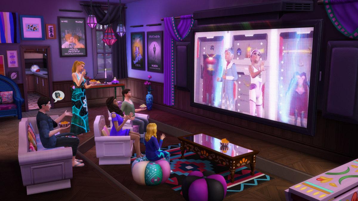 The Sims 4 Movie Hangout Stuff