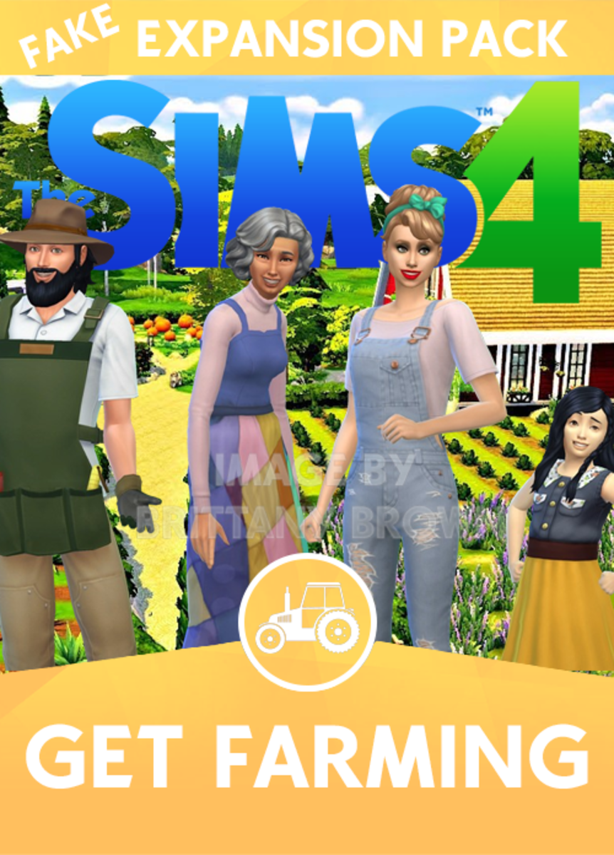 The Sims 4 Get Farming Expansion Pack.  Farm lot used in the background by Simproved.