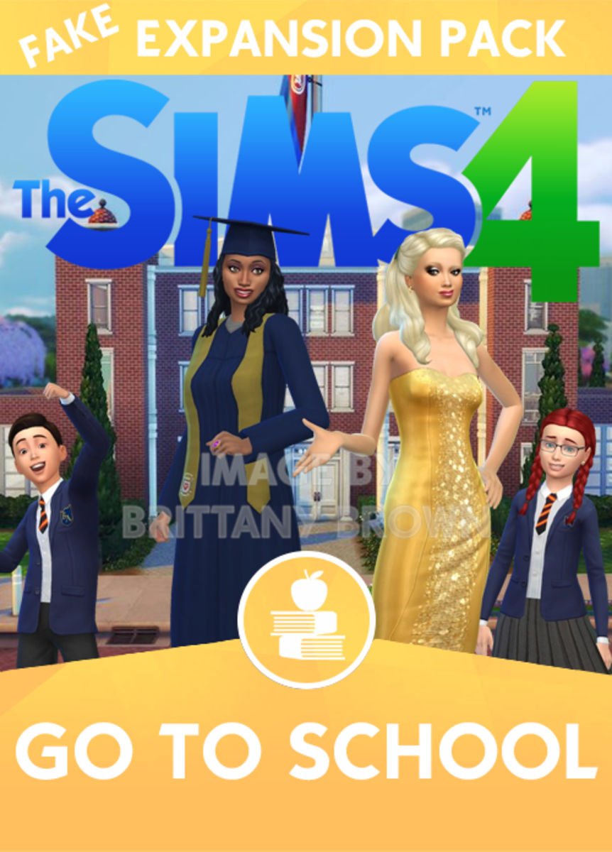 The Sims 4 Go To School Expansion Pack. Cap and Gown by Mathcope School, school uniforms by Margies Sims, school lot in background by KawaiiStacie.