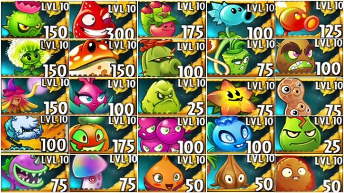 Level 10 plants in PvZ2