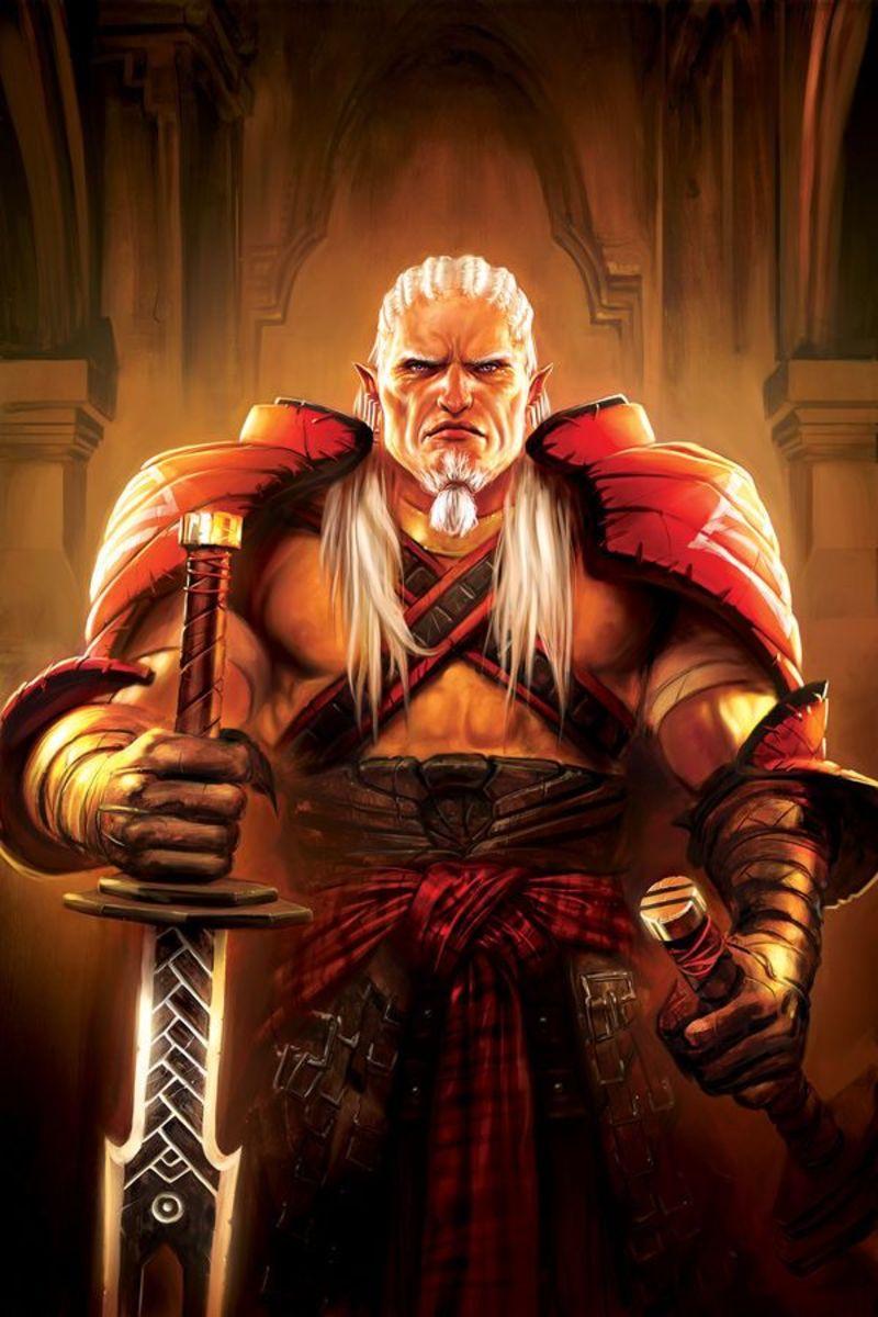 Art of Sten as the Arishok.