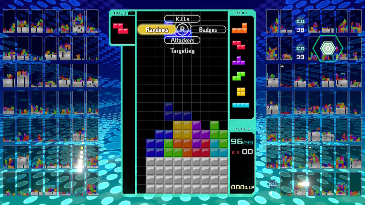 Here is an example of a well that could allow the player to get a Tetris combo by dropping the long thin I-block, if only it weren't so far away.