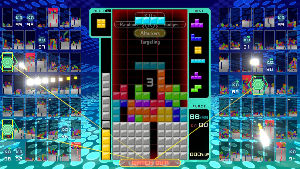 "The game play interface in ""Tetris 99"" is pretty straightforward, but there are some intricacies to get used to."
