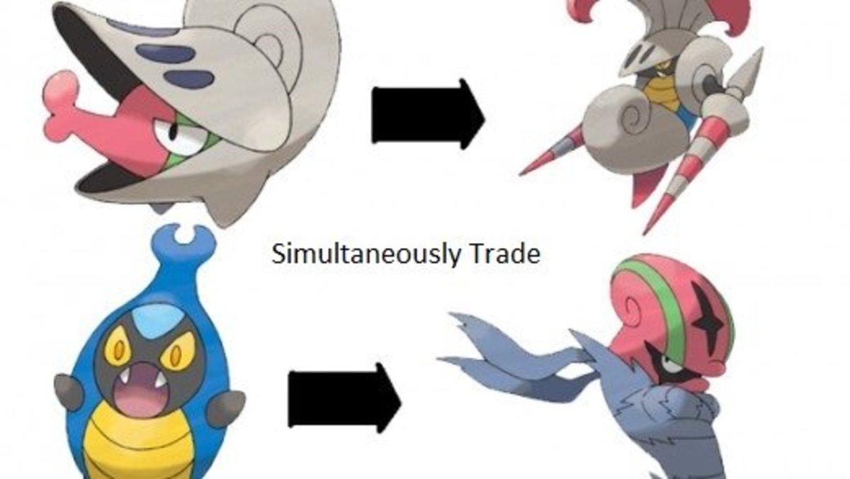 Shelmet and Karrablast evolution charts