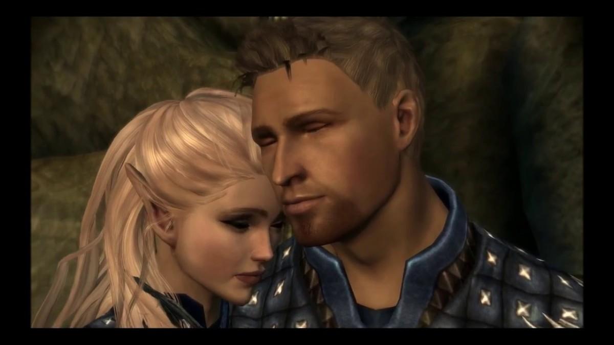 Alistair and elven female Warden.