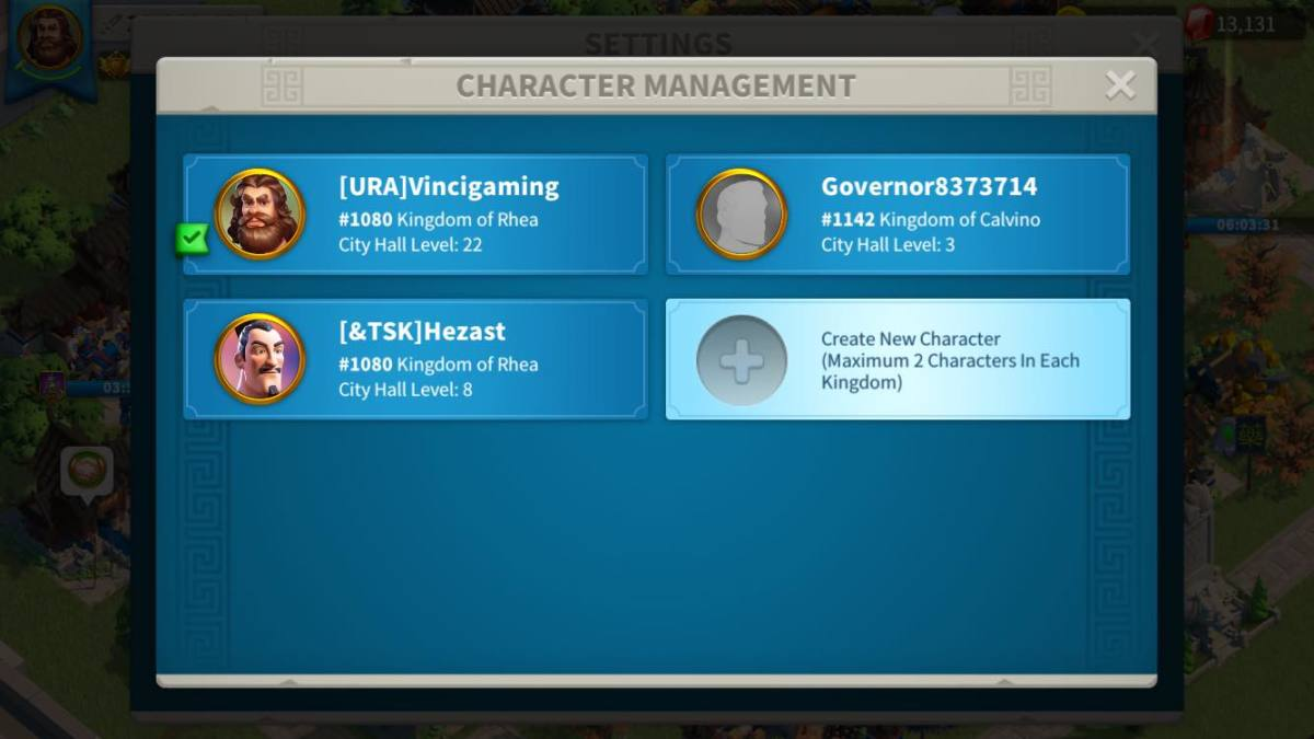 Switching Accounts in Rise of Kingdoms