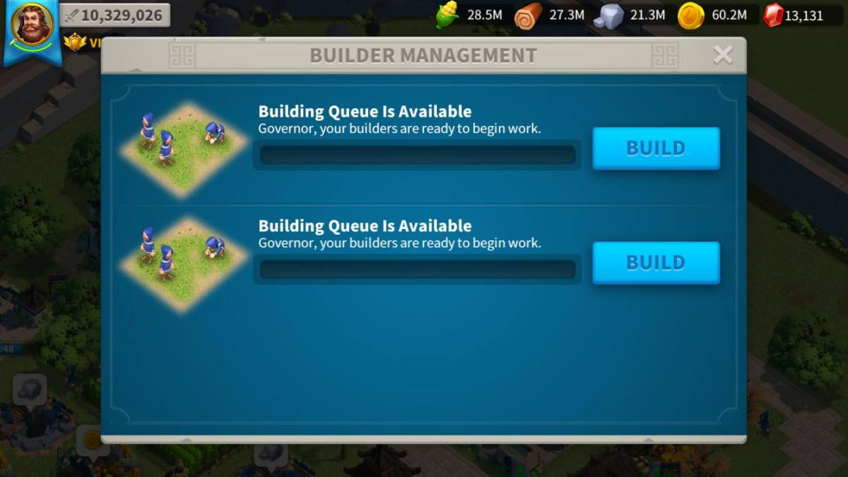 Builder's Hut in Rise of Kingdoms