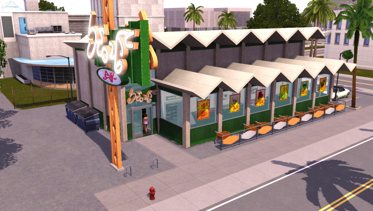 In The Sims 3, your Sim can go grocery shopping!  A small, but more realistic touch which is lacking in The Sims 4.