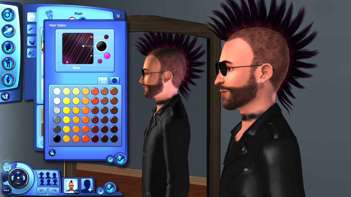 The Sims 3 Create-A-Style is one of the best things about the game.  The level of customisation is unreal!