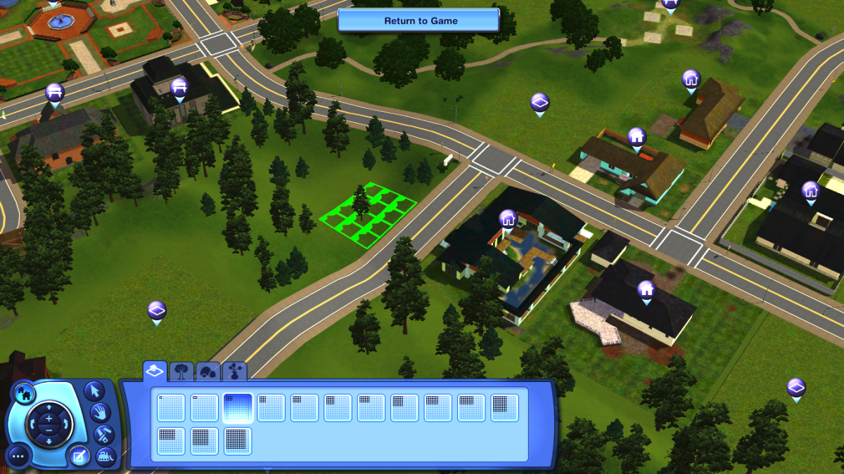 In The Sims 3, you can have 100+ lots in your individual worlds and place them wherever, if your computer can handle it.