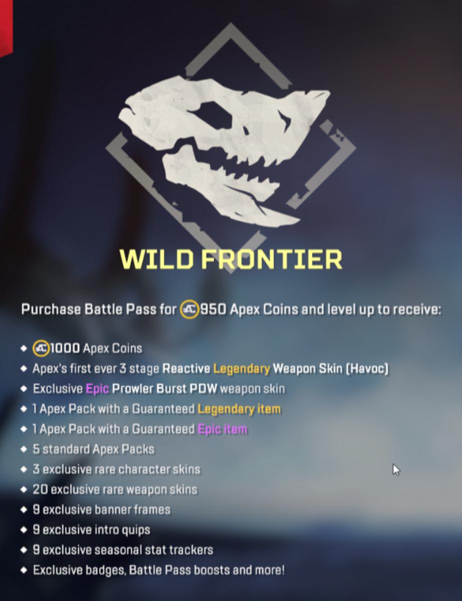 Wild Frontier Battle Pass Rewards