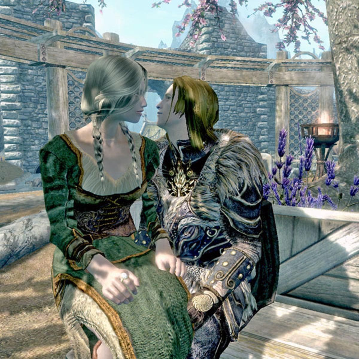Vilja with the Dragonborn.