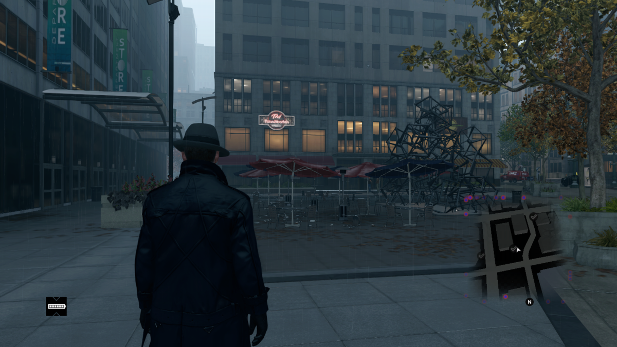 Depicted as an outdoor, nondescript, location in the game. I suppose with the way Chicago buries its bad memories this isn't too far off.