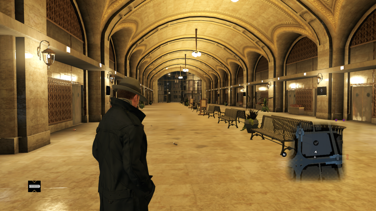 The extra large you-could-totally-drive-a-car-through-here-while-escaping-pursuers corridor of the in-game City Hall. Just to cover my ass legally I'm not advising you try that. The reinforced frame work won't allow it anyway.