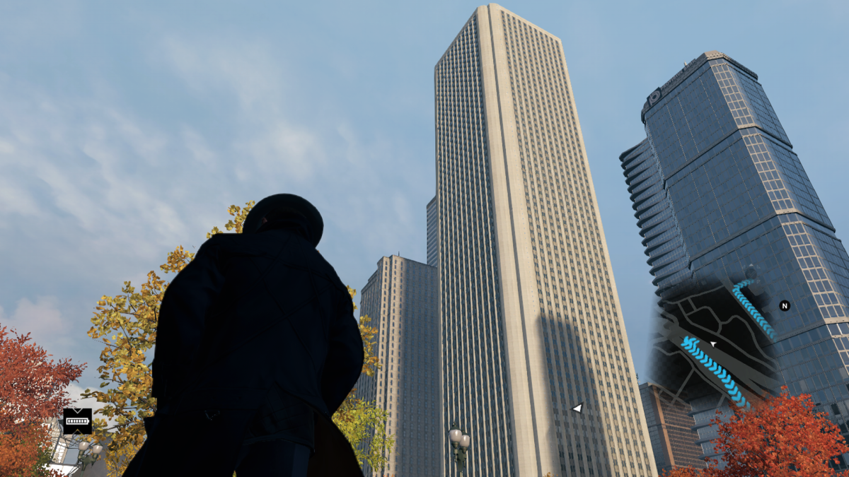 Had to take this screenshot from as far away as the highway that substitutes Lake Shore Drive in-game.