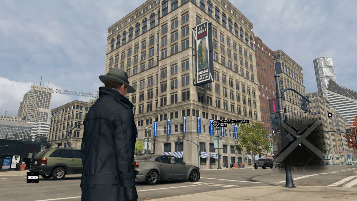 In-game it looks more like the Lexington Hotel. Still a street corner though… Am I giving too much credit to point out the construction crane on the upper left?