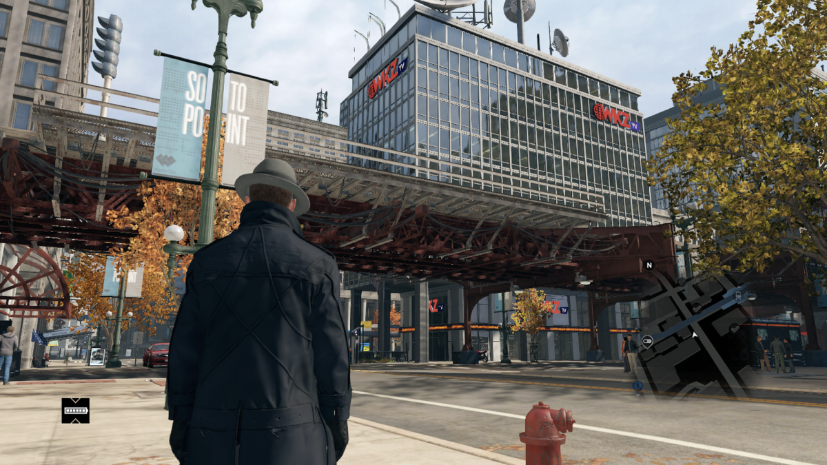 The in-game area (screenshot taken from other side of the L tracks) is decently accurate, being right across the street from where the Chicago Theater would be. Though the area in game looks less detailed and a lot smaller.