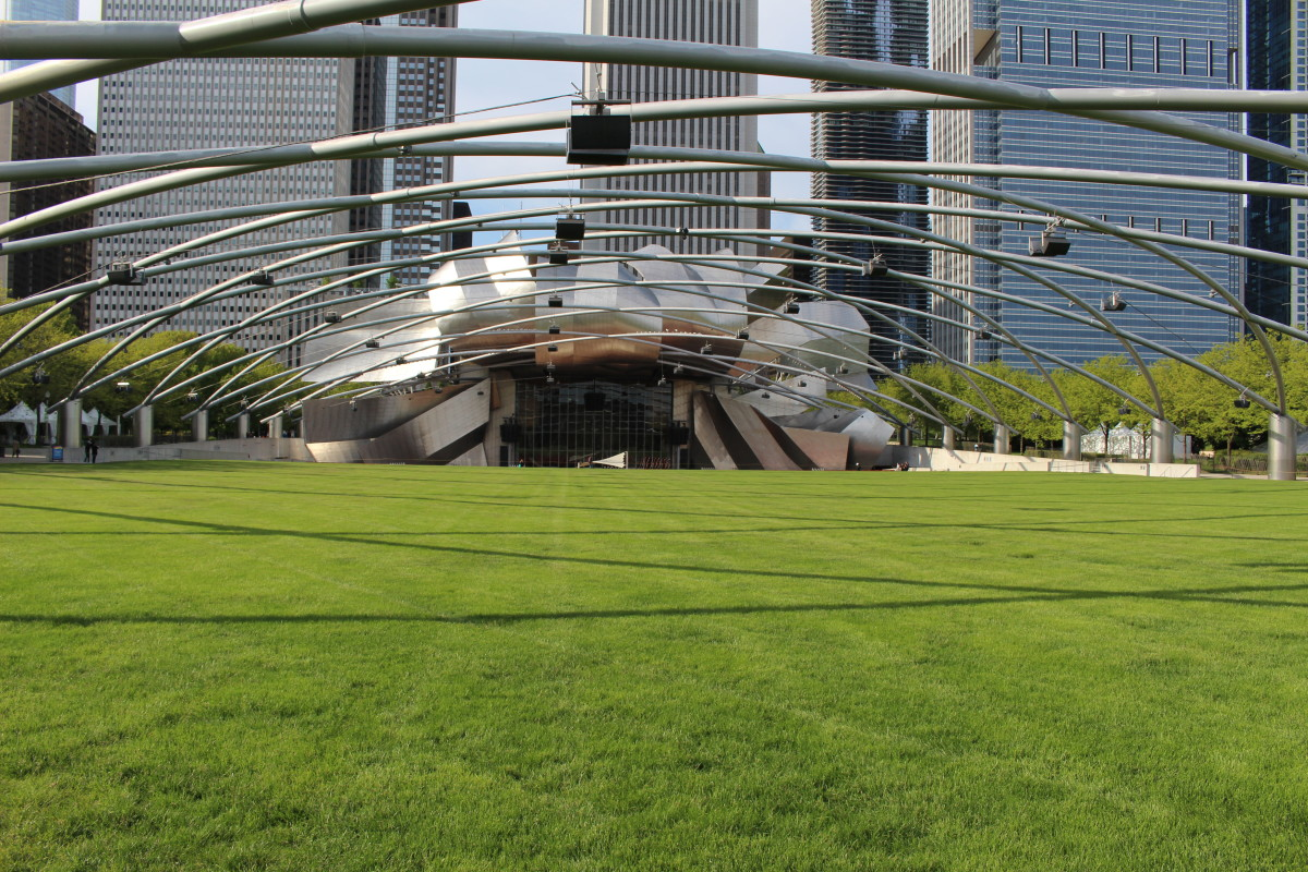 The Jay Prizker Pavilion in Millennium Park. Picture taken in November 2016.